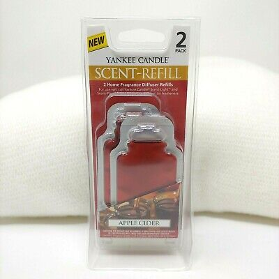 Yankee Candle Scent Light Plug Refill Fragrance Diffuser Apple Cider Pack of 2