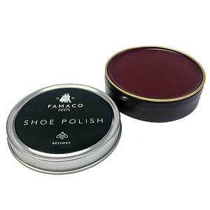 Famaco Bordeaux Oxblood Shoe Polish Tin | Boot Polish | Tin Polish 50ml
