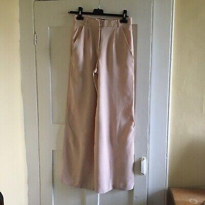 Joseph Pale Pink Silk Trousers Size S