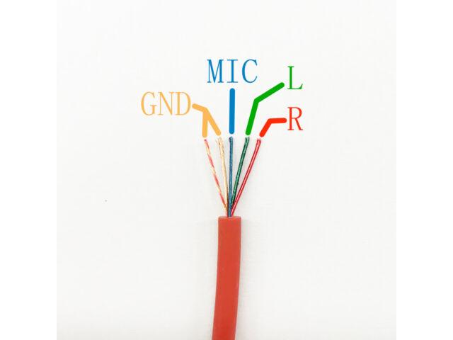 Gold 4 Pole 3.5mm Male Repair headphone Jack Plug Metal Audio Soldering & Spring
