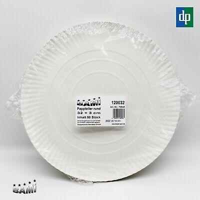 ler Partyteller Einweg Teller Pappe Weiß rund 32cm  (Papier Teller Party)
