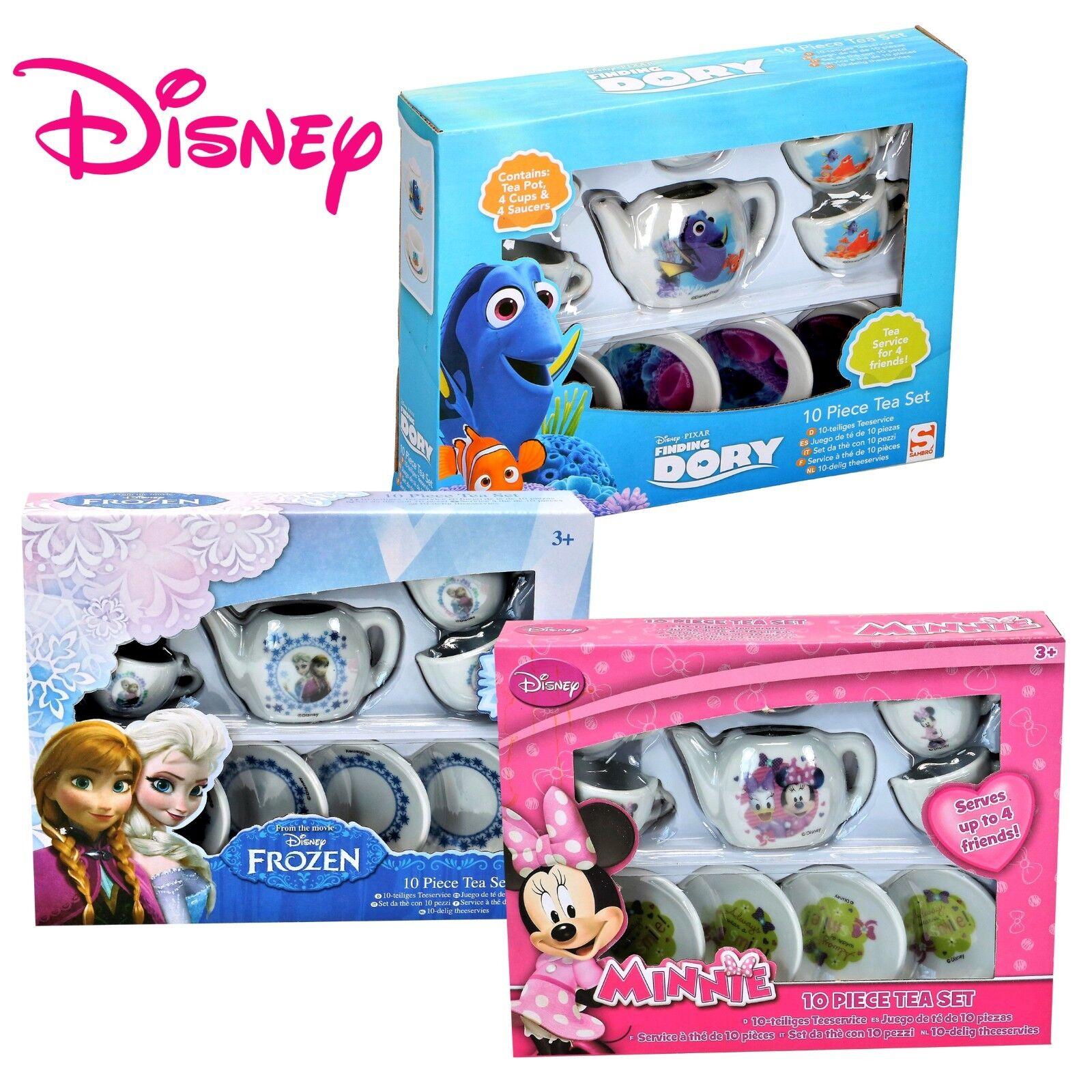 Disney 10-tlg Kinder Porzellan Teeservice Teeset Findet Dory Minnie Mouse Frozen