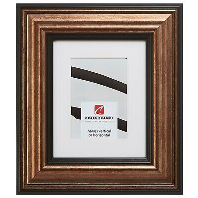 21307201 12x18 Aged Copper & Black Picture Frame Matted to D