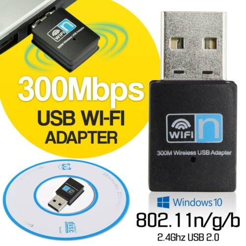 USB Wifi Adapter Dongle 300Mbps Wireless Lan Internet for De