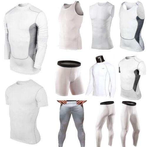 Maglia Compressione Uomo TERMICO SOTTO BASE strato calze pelle Pantaloni corti