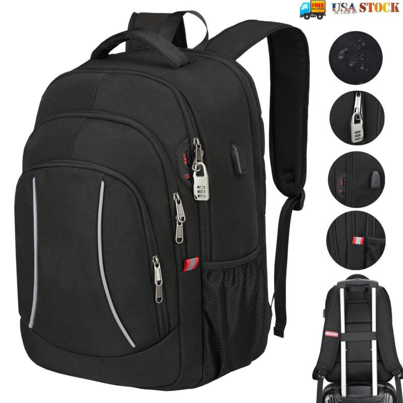 Mens Laptop Backpack Extra Large Anti Theft Waterproof RFID Travel Shoulder Bag