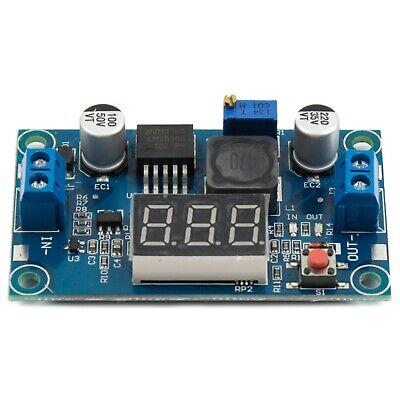 Lm2596 Dc 4.0-40 To 1.3-37v Adjustable Step-down Buck Power Module Voltmeter
