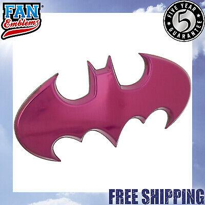Batgirl Car Emblem Pink Chrome Batwing Logo 3D Decal Official DC Comics - Batgirl Emblem