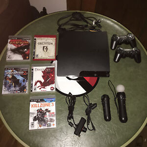 PlayStation PS3 Slim 120GB with MOVE and games