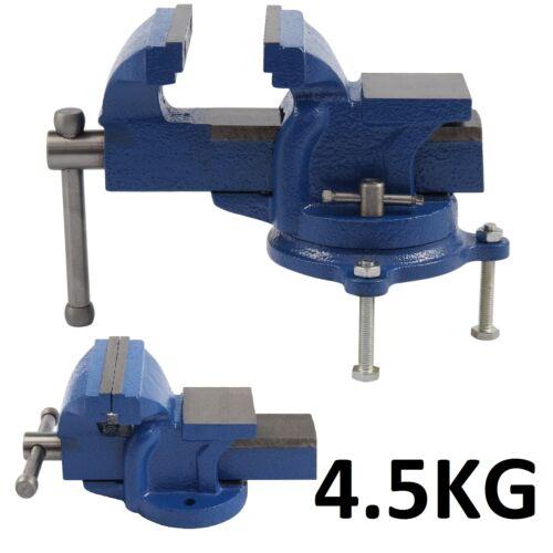 Heavy Duty 4 100mm Engineer Vice Workshop Jaw Clamp Work Bench Vise Swivel Base Ebay