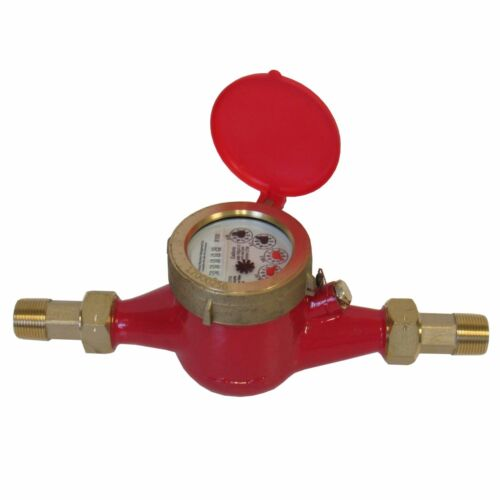 "New PRM 1/2"" NPT Multi-Jet Hot Water Meter – Industrial Quality"