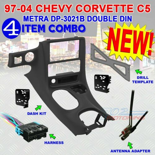 METRA DP-3021B DOUBLE DIN STEREO RADIO DASH KIT FOR 1997-2004 CHEVY CORVETTE C5