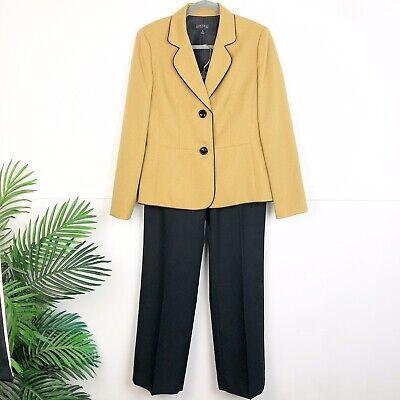 Kasper size 10 Gold Blazer Pant Suit