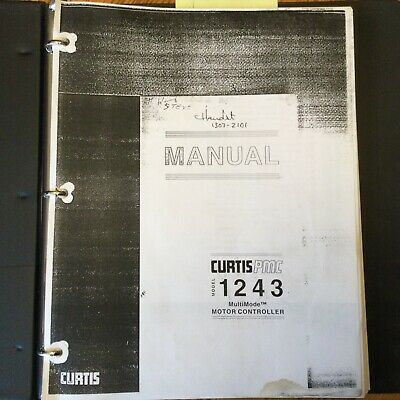 Curtis Pmc 1243 Motor Controller Service Repair Manual Electric Fork Lift Truck
