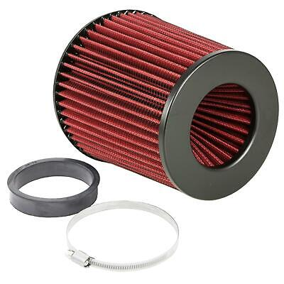 80mm Rubber Neck Universal Cone Induction Intake High Flow Air Filter