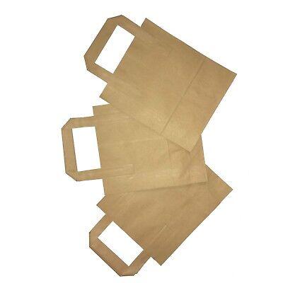 SOS Carrier Bags SMALL Brown Kraft Paper Takeaway / Restaurant x 10