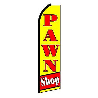 Pawn Shop Flag Flutter Feather Banner Swooper