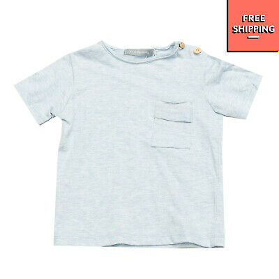 1 + IN THE FAMILY T-Shirt Top Size 6M Melange Raw Edges Short Sleeve Round Neck