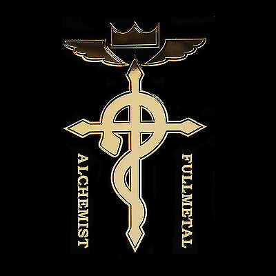 Fullmetal Alchemist metal sticker 24K Gold-Plated (Cross of Flamel)