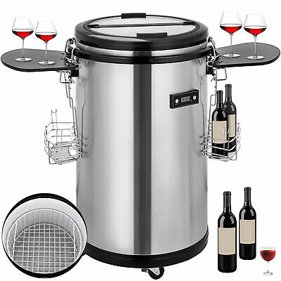 Outdoor Fridge Party Cooler Stainless Steel Drinks Refrigerated Beverage Freezer