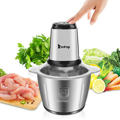 2.8l Electric Meat Grinder Stainless Steel Sausage Maker Cutter Kitchen 2 Speed