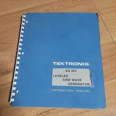 Tektronix Sg 503 Leveled Sine-wave Generator Instruction Manual