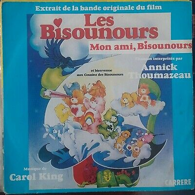 RARE 45t 7'' ANNICK THOUMAZEAU LES BISOUNOURS B.O. FILM CAROL KING CARRERE TBE