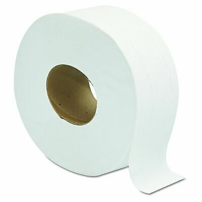 Jumbo Toilet Paper Rolls 2 Ply 12 Roll 9 Inch Towel Bathroom White Tissue Towels