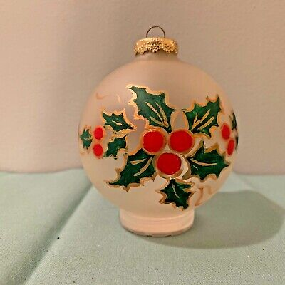 Frosted Glass Paint (Frosted Glass Christmas Ornament ~ Hand Painted ~)