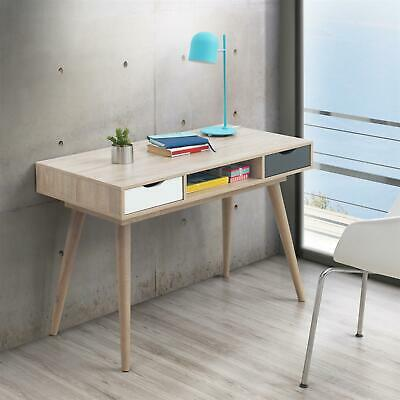 Scandinavian Laptop Computer Desk Office Furniture Retro Nordic Table White Grey