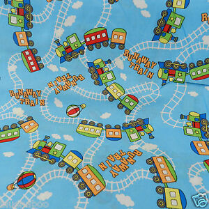 Train fabric ebay for Fabric with trains pattern