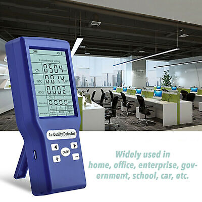 Co2 Ppm Meters Carbon Dioxide Detector Gas Analyzer Protable Air Quality Tester