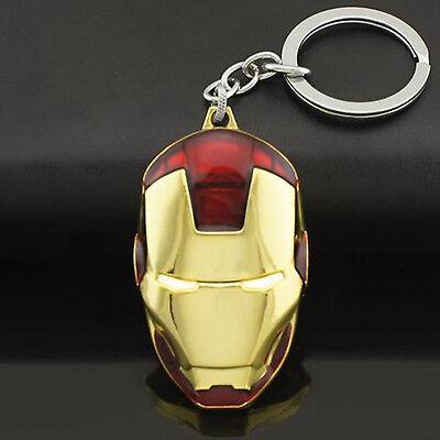 Superhelden-schlüsselanhänger (MARVEL | Iron Man Maske Superhelden Schlüsselanhänger | Metall | Rot & Gold )
