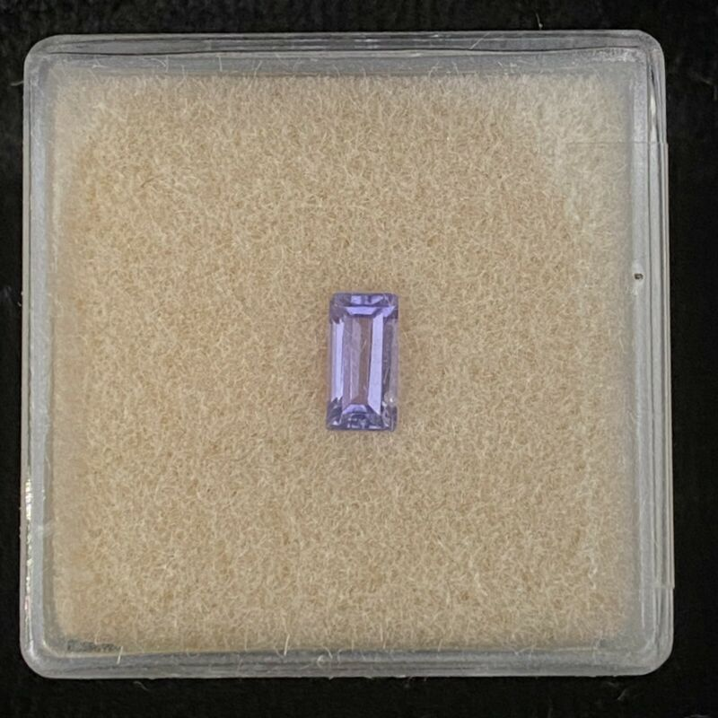 TANZANITE .40CT BAGUETTE FOR 6X3MM MOUNTING AS SHOWN 1