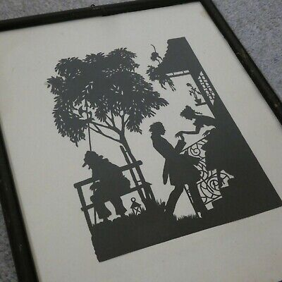 Lotte Gutzlaff Scherenschnitte Paper Cut Silhouette Berlin 20s Art - Rendezvous