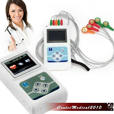 24 Hours 3 Channel Ecgekg Holter Monitor System Usb Softwarecontec