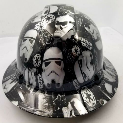 Hard Hat Full Brim STORMTROOPERS Custom hydro dipped full brim DEATH STAR NEW