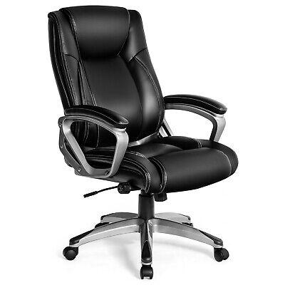 Giantex Executive Big Tall Office Chair High Back Large Seat Task Chair Black