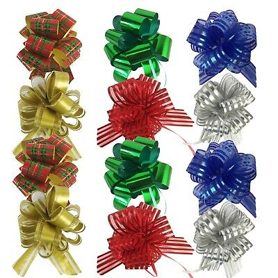 Allgala 12 Pack Christmas Pull Flower Gift Wrapping -