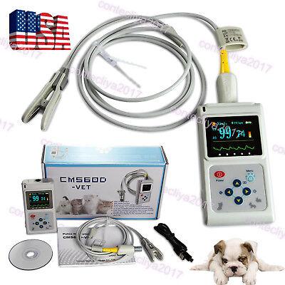Veterinary Pulse Oximeter Handheld Spo2 Pr Monitor Tongue Probesw Contec Cms60d