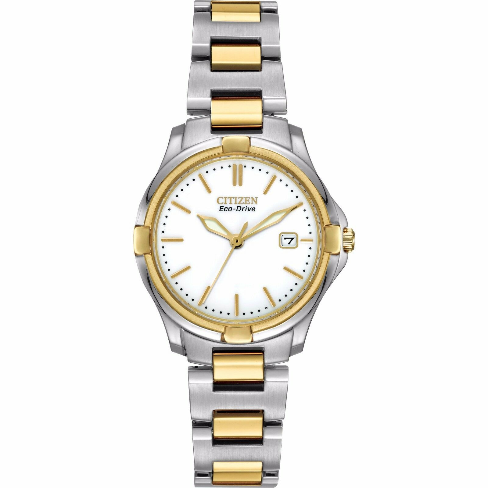 $59.99 - Citizen Eco-Drive Women's EW1964-58A Silhouette Two-Tone Stainless Steel Watch
