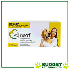 VALUHEART For Large Dogs 21-40kg 6 Tablets Yellow