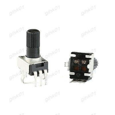 5pcs Rv0932 10k Ohm Potentiometer 20mm Handle Round Shaft Rv09 Trimmer Pot-b103