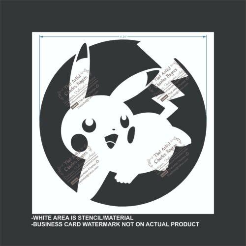 Pokemon Pikachu - Reusable, Flexible Plastic Stencil