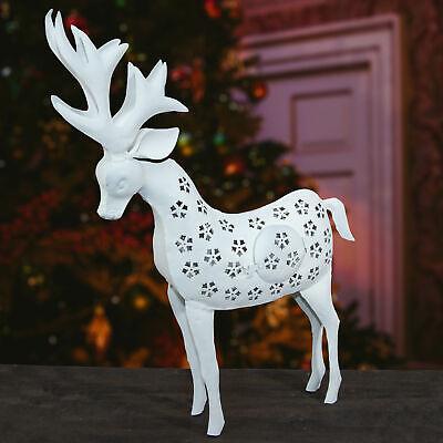 Reno Candelero, Blanco,Grande,Navidad,Decoración