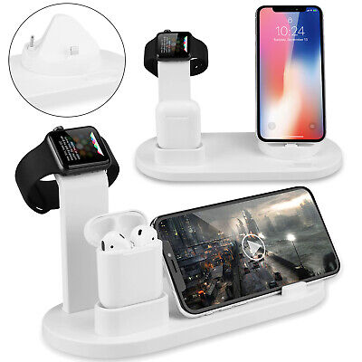 3in1 Wireless Charger Dock Stand Fast Qi Charging Pad for iPhone X XR 11 Samsung
