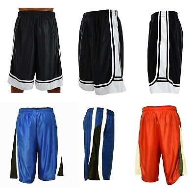 Men Basketball Shorts Mesh Quick-Dry Gym Workout Running with Side 2 -