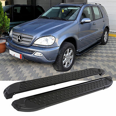 TRITTBRETTER MERCEDES ML W163 | 1998-2005 | BLACK EDITION | TÜV & ABE