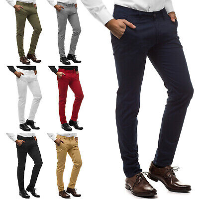 Chinohose Anzughose Business Regular Slim Fit Hochzeit OZONEE T/2901 Herren Slim Fit Chino