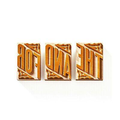 Letterpress Set Of Catchwords No. 02 Wood Type 12 Line 50.8 Mm - 3 Pieces